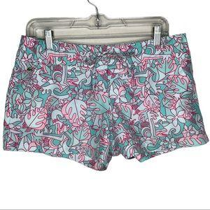 Lacoste Devanlay Shorts Tie Waist Pink/ Blue